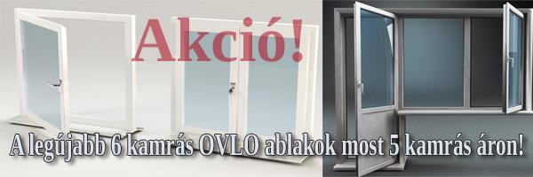 Hat kamrás OVLO műanyag ablak akció